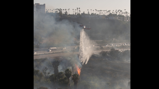Flames Threaten Homes Near San Diego State University