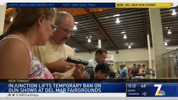 [DGO] Injunction Lifts Temporary Ban on Gun Shows at Del Mar Fairgrounds