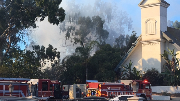 Images: Fire Burns South of Downtown San Diego