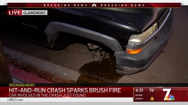 Driver Loses Tire in Crash, Sparks Fire As He Flees