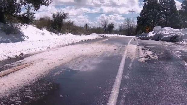 Driving Conditions Still Dangerous After Mountain Snow