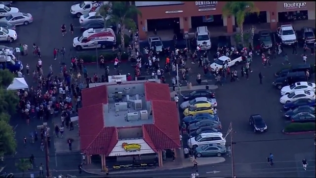 Scuffle at Site of El Cajon Police Shooting