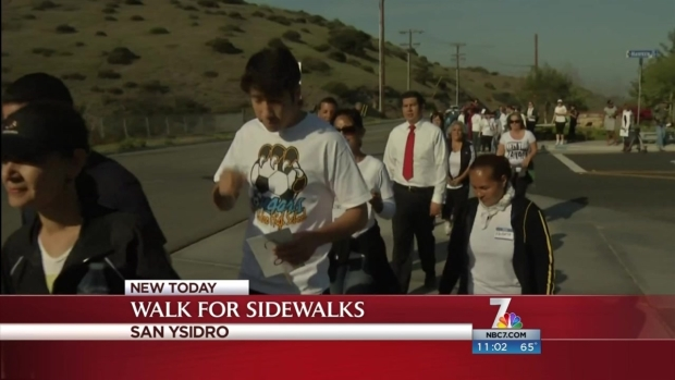 [DGO] Organizers Walk for Sidewalk in San Ysidro