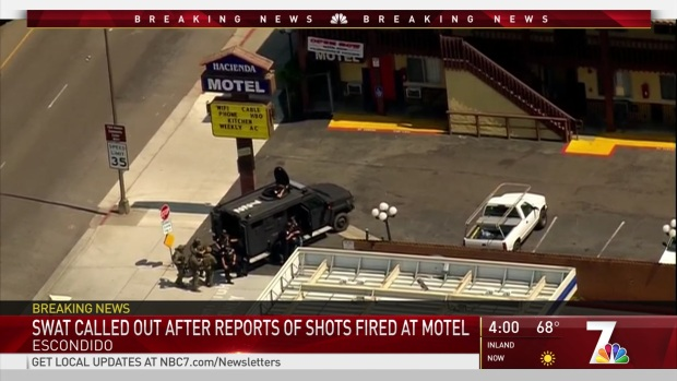 [DGO] SWAT in Standoff with Man Barricaded in Escondido Motel Room