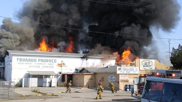 Fire Sparks At Escondido Butcher Shop NBC 7 San Diego