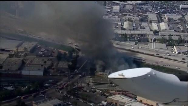 News Chopper Video of Escondido Fire