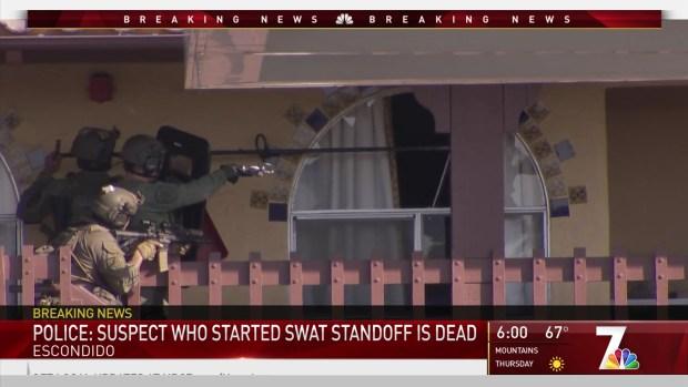 [DGO] Standoff at Escondido Motel Over, Suspect Dead: EPD