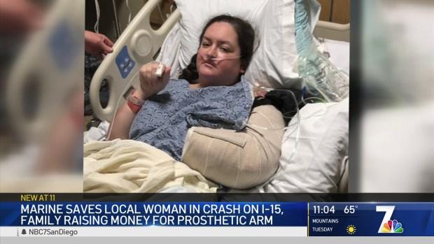 U.S. Marine Saved Woman's Life in Car Crash