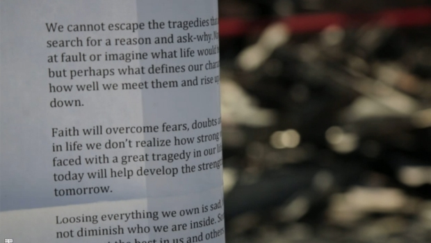 [DGO] Letter of Hope Left Behind for Fire Victims