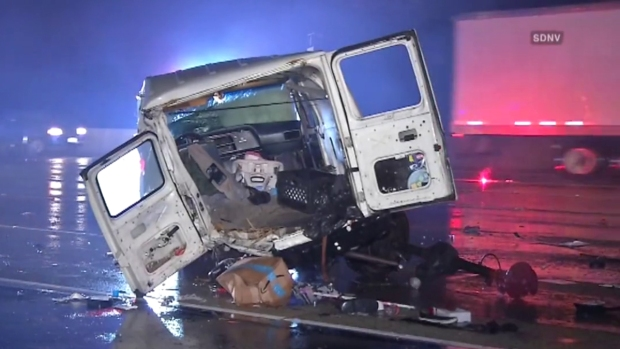 Man Struck by Big Rig While Changing Flat in the Rain on I-805