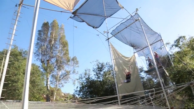 Trapeze is Fountain of Youth for 84 year old Woman