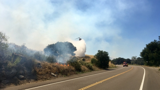 Fast-Spreading 'Gate Fire' Burns Off SR-94