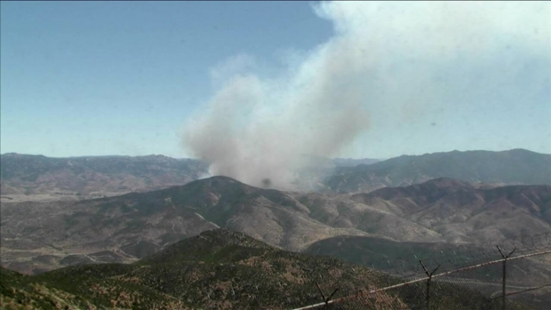 'Gate Fire' Burns Off SR-94