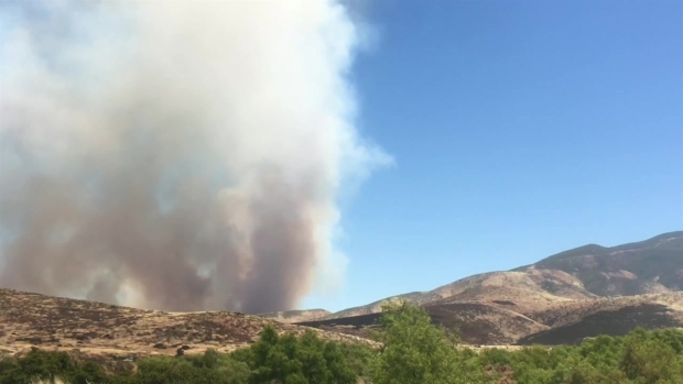 Gate Fire, As Seen From Otay Lake
