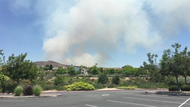 'Gate Fire' Smoke Billows