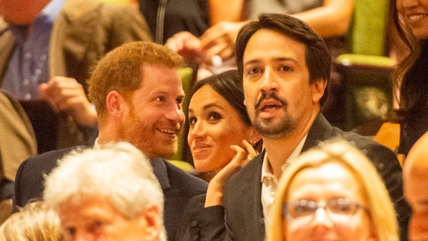 [NATL] Royal Family Photos: Meghan and Harry Take In 'Hamilton,' Which Mocks King George III