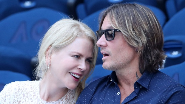 [NATL] Celebrities in the Stands: Nicole Kidman, Keith Urban at Australian Open