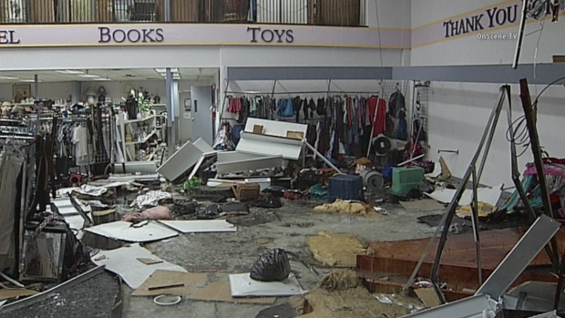 [DGO] Rain Collapses Roof of Goodwill Store