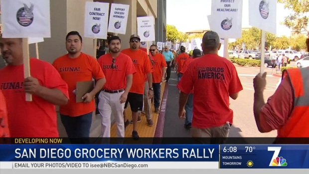 San Diego Grocery Workers Rally For Better Pay