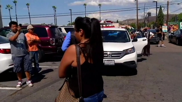 Sides Clash as Protesters March in El Cajon