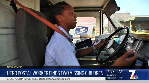 Vista Postal Worker Honored After Finding A Missing Teen and Toddler