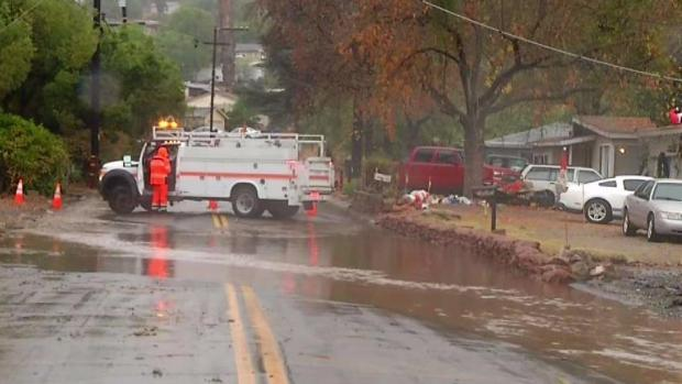 Heavy Rain Causes Flooding in Lakeside