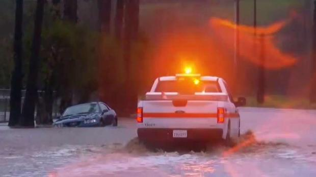 Heavy Rain Floods North County Roads
