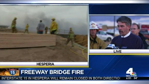 [LA] Hesperia Bridge Fire  Update