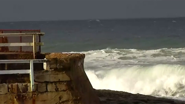 Strong Winds, High Surf Hit Coastline