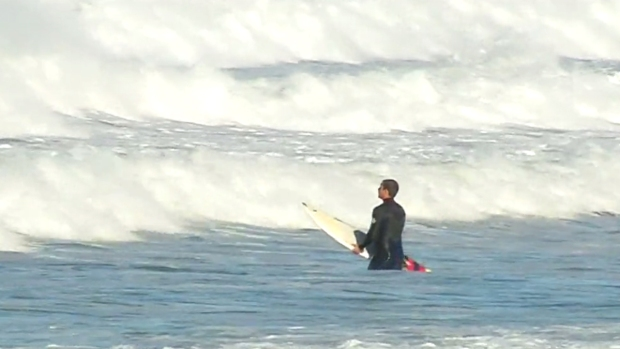 High Surf Pounds Local Beaches