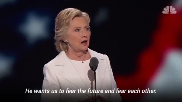 [NATL]Hillary Clinton Quotes Roosevelt's Fear Speech