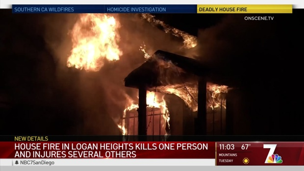 [DGO] House Fire in Logan Heights Kills 1, Injures Several Others