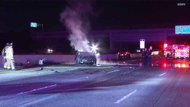 [G STRINGER] 2 Killed, 2 Hurt in Fiery, Suspected DUI Crash on I-15
