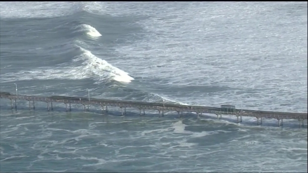 [DGO]OB Pier Damaged Amid High Surf