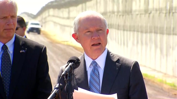 [NATL-DGO] Attorney General Sessions, Homeland Security Secretary Kelly Tour Border Territory, Detention Facility