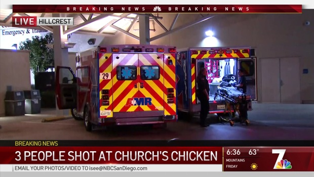 2 people Injured,1 Dead at Church's Chicken in Otay Mesa