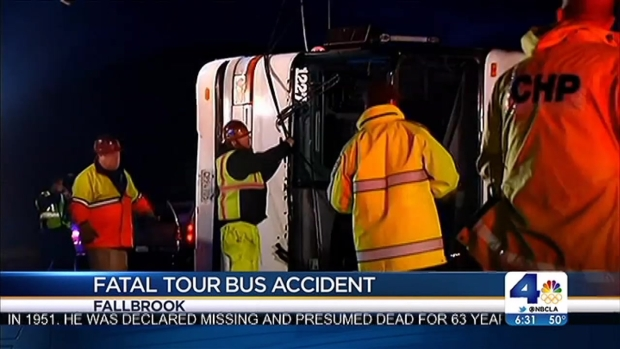 [LA] Van Nuys Woman Dies in Tour Bus Crash