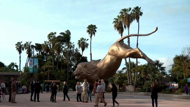[DGO]Rex, San Diego Zoo's Inspiration, Gets Statue at Entrance