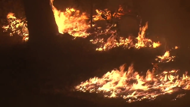 RAW: Fire Burns Near Calistoga, Patients Being Treated