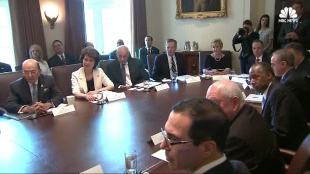 [NATL] Trump Holds First Cabinet Meeting
