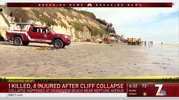 Cliff Collapses in Leucadia; One Dead and Four People Injured