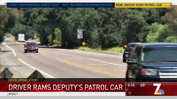 Driver 'Deliberately' Slams SUV Into Deputy's Car During Chase on I