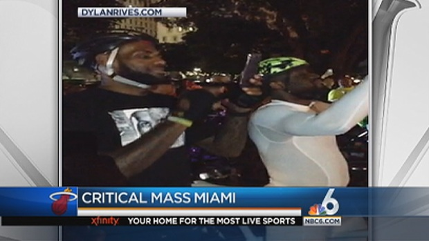 [MI] LeBron James, Dwyane Wade Ride in Critical Mass