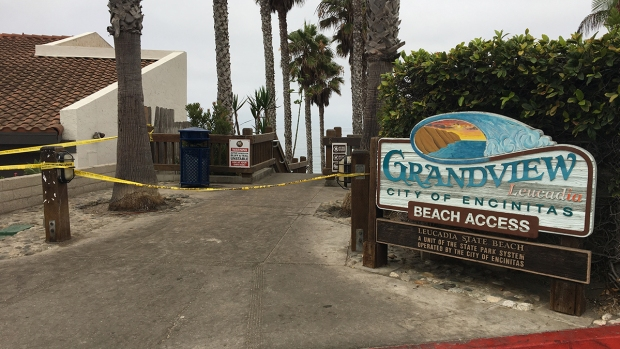 Images from Deadly Beach Cliff Collapse in Leucadia