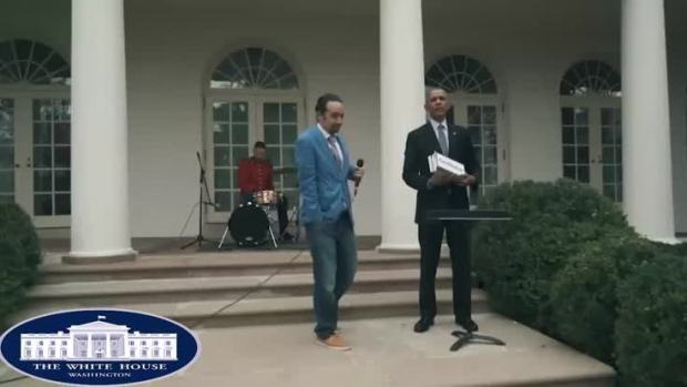 'Hamilton' Star Freestyles With Obama