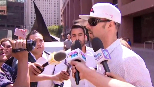 [DGO] Esteban Loaiza Arrives at Court