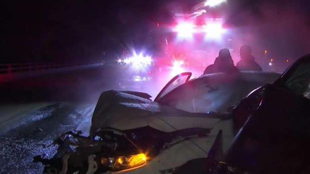 Man Fell Off Bridge Avoiding Multi-Car Crash
