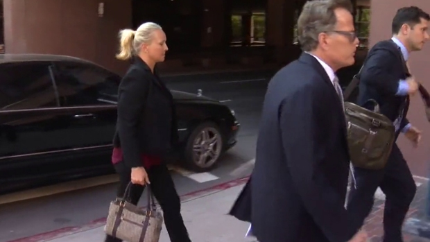 Margaret Hunter Arrives to Federal Court Separately from Congressman Duncan Hunter