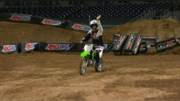 [DGO] Megan Tevrizian Rides Supercross Bike