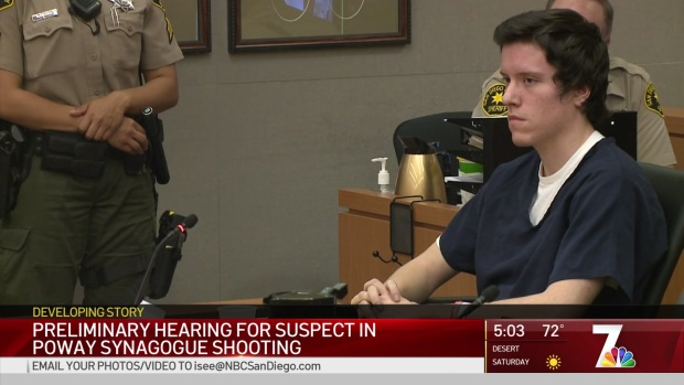 Evidence in Deadly Poway Synagogue Attack Presented in Court